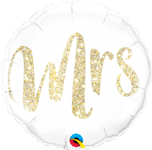 Mrs Glitter Gold Foil Balloon | Free Delivery